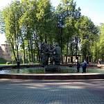 Утренний фотофакт от читателя: «Новгородский Водоканал» работает на фонтане
