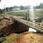 Продолжается эпопея с мостом, водой и светом в поселке Теребутенец