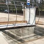 Фотофакт: в Боровичском районе ветер перевернул автобусную остановку