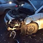 В аварии на Колмовской набережной пострадала водитель иномарки