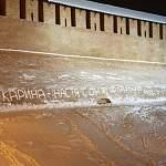 Новгородца возмутила снежная надпись на кремле и бездействие полиции