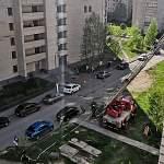 В Великом Новгороде пожарных вызвали тушить газету на балконе