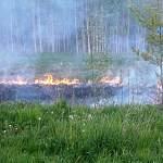 Сегодня вечером новгородские пожарные боролись с огнём в районе Красного поля