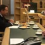 Губернатор Андрей Никитин встретился с участником освобождения Новгорода Владимиром Конкиным