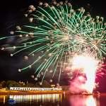 Первый день фестиваля «Городские выходные» завершил салют. Фоторепортаж