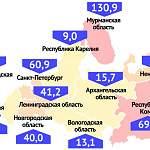 Новгородская область в СЗФО по числу случаев коронавируса на 100 000 населения заняла пятое место