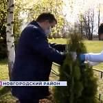 У новгородской деревни Хутынь посадили деревья в память пяти командиров 229-й стрелковой дивизии