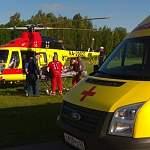 Из Старой Руссы в Великий Новгород вертолёт перевез пациента с почечной недостаточностью
