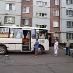 Фоторепортаж: в Великом Новгороде один из пунктов голосования расположился в автобусе