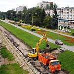 Продолжается реконструкция набережной Александра Невского в Великом Новгороде