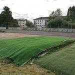 На новгородском стадионе «Волна» идет реконструкция мини-футбольной площадки
