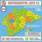 За минувшие сутки коронавирус выявили у жителей Великого Новгорода и семи районов области