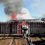 На пожаре в Малой Вишере местные жители спасли детей